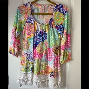 """NWOT Lilly Pulitzer """"Roar of the Seas"""" top, XS"""